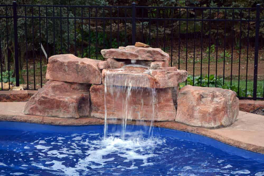 3 foot modular swimming pool waterfall kit for Building a swimming pool waterfall