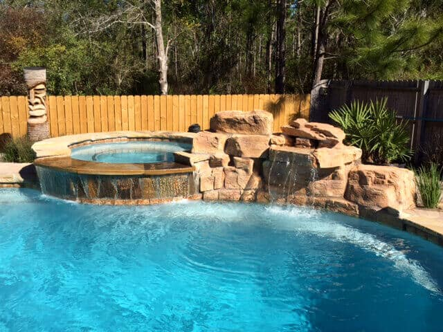 3 Foot Modular Swimming Pool Waterfall Kit w/ Coping