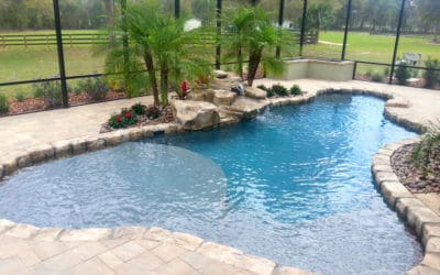 Limestone Texas 2-Step Swimming Pool Waterfall