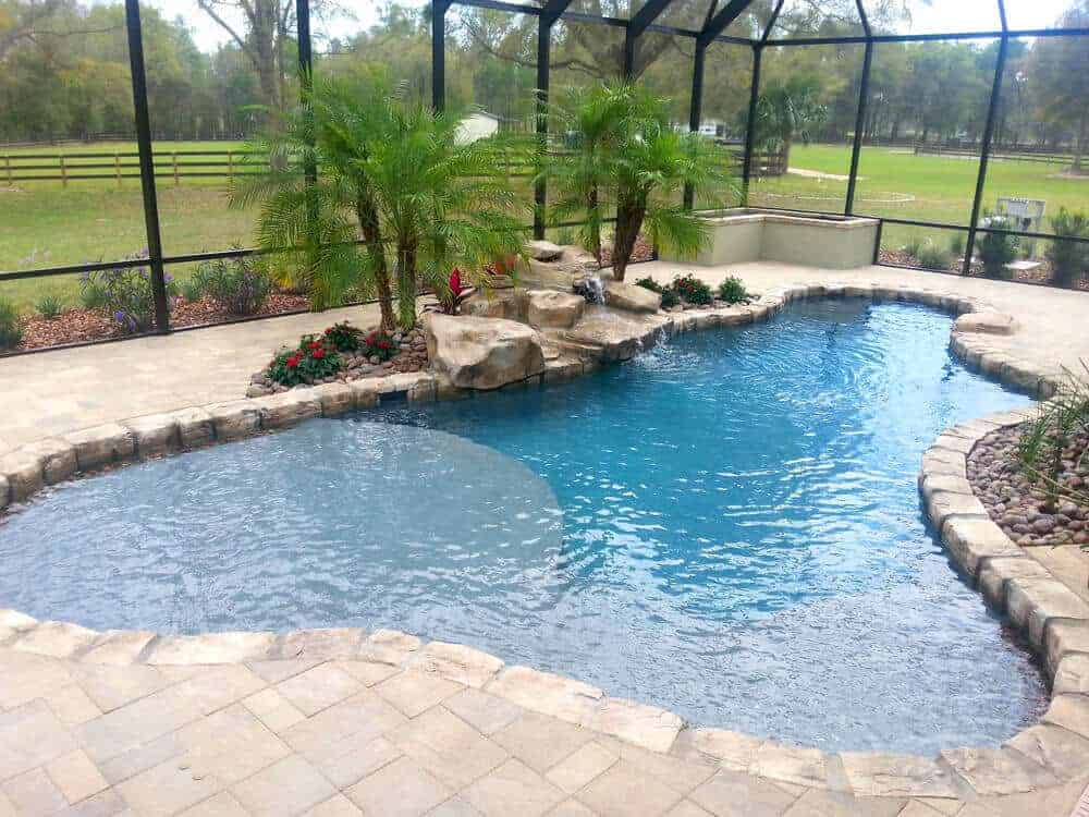 Limestone Texas 2 Step Swimming Pool Waterfall Ricorock Inc