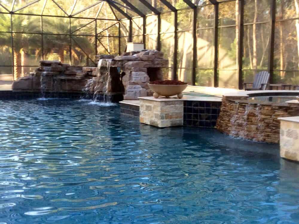 Creative Ricorock Pool Waterfalls In Florida Ricorock Inc