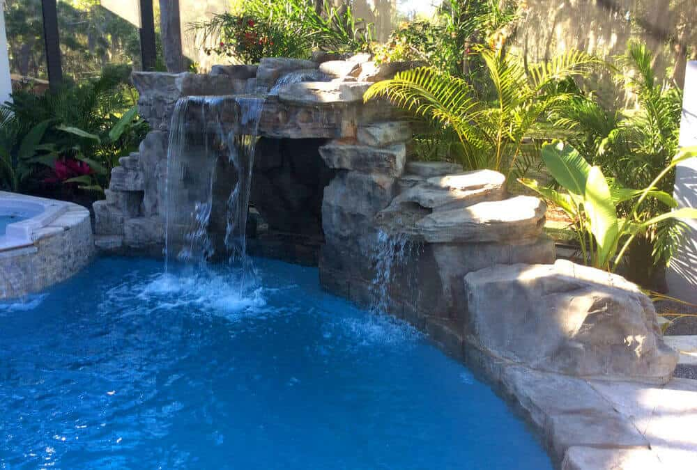 Creative Ricorock Grotto Application On A Swimming Pool