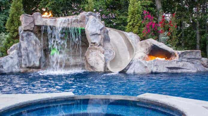 Fire Feature and Grotto Using RicoRock Products