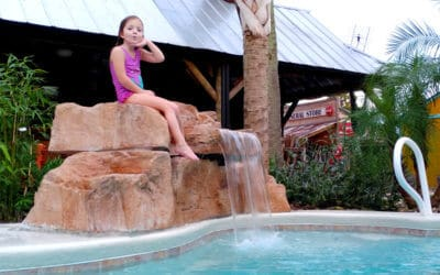 RicoRock 3 Foot Modular Swimming Pool Waterfall Kit in FL