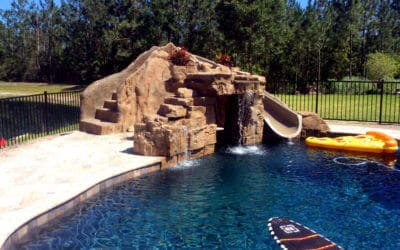 Creative RicoRock Grotto with Water Slide Enclosure