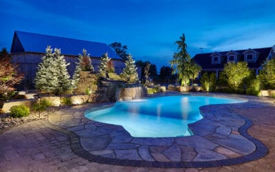 Swimming Pool Grotto Using RicoRock Products in Canada