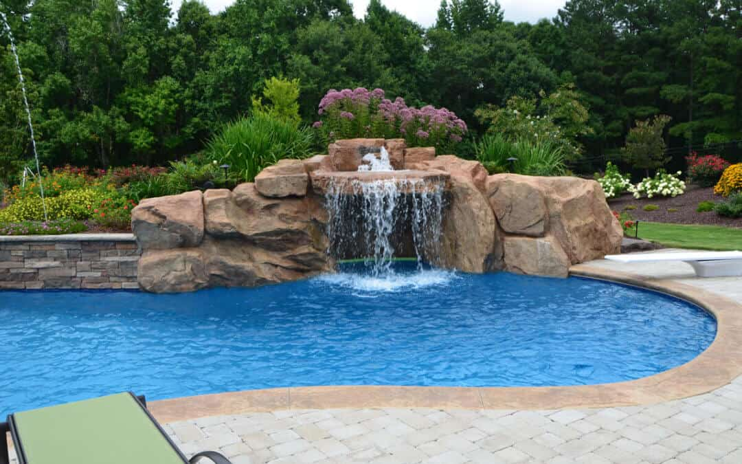 Custom Swimming Pool Grotto Using RicoRock Products
