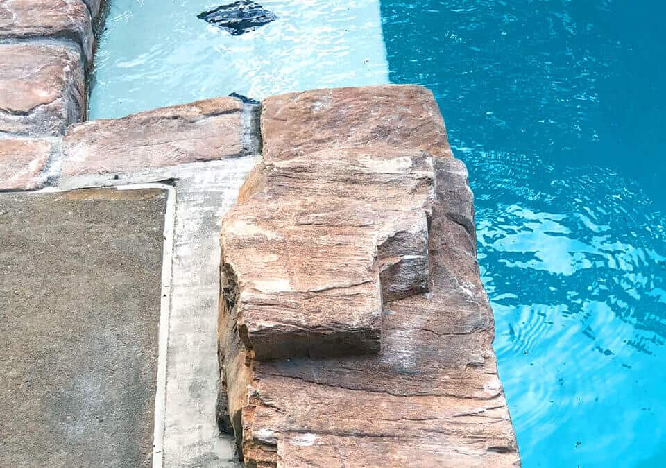 RicoRock Artificial Rock Waterfall on an Existing Pool