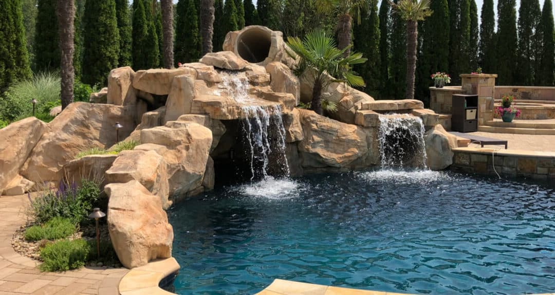 Custom Rock Grotto Slide and Accent Rocks