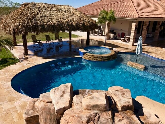 Various RicoRock Artificial Rock Swimming Pool Products