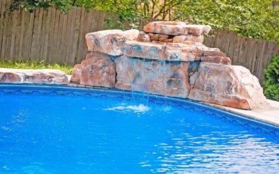 RicoRock 3 Ft Modular Swimming Pool Waterfall in Fieldstone