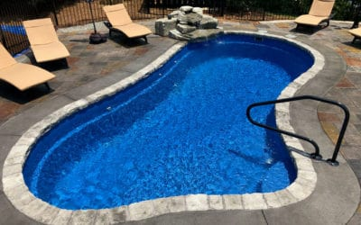 3×9 Inch Coping on Fiberglass Pool