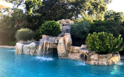 Custom Faux Rock Cave on a Swimming Pool