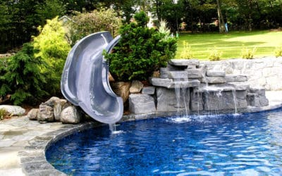 RicoRock 4 Ft Double Faux Rock Waterfall with Slide
