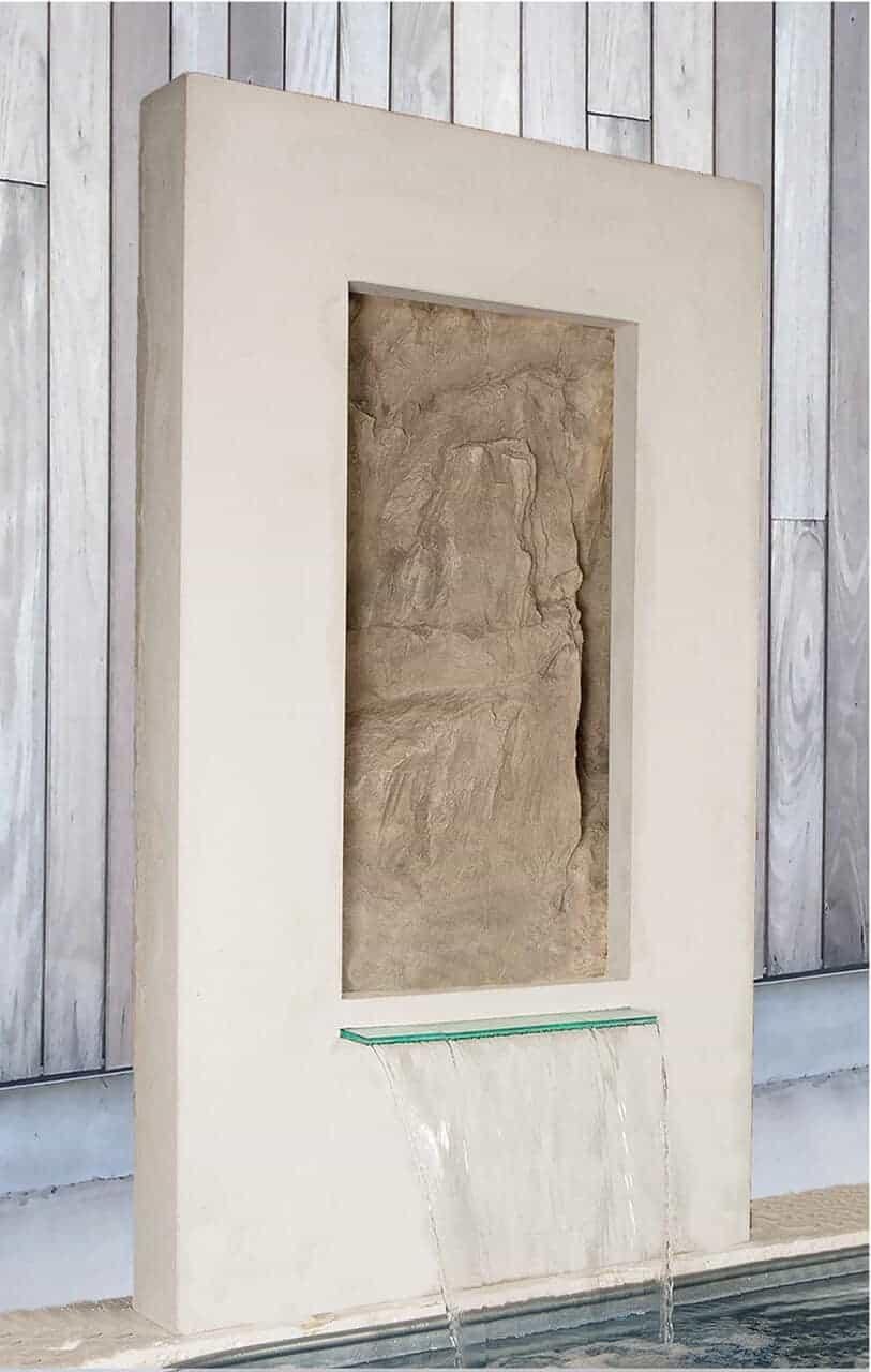 vertical wall rock insert