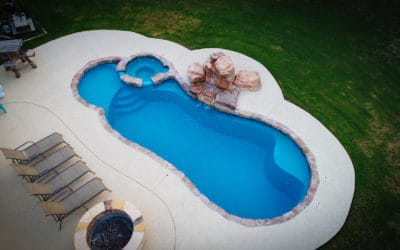 Arial View of RicoRock Tennessee Ledger Swimming Pool Waterfall