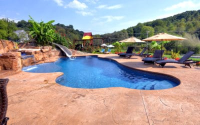 Award Winning Pool Waterfall Featuring RicoRock Custom Products
