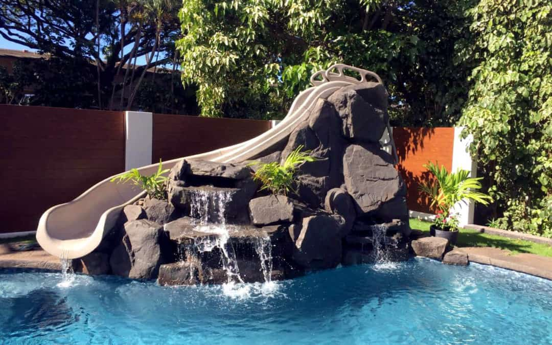 Custom Waterfall in Hawaii Using RicoRock Faux Rock Products