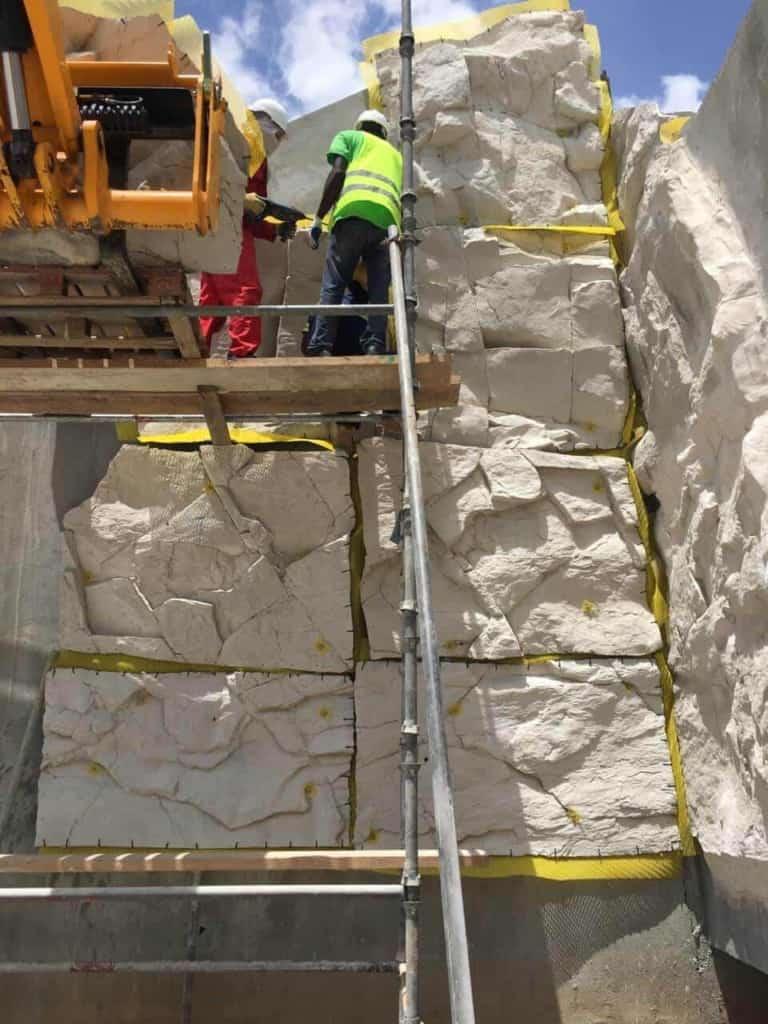 ricorock faux rock panels
