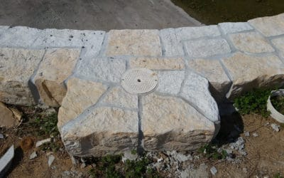 RicoRock 13″ Coping Used as Faux Rock Flagstone