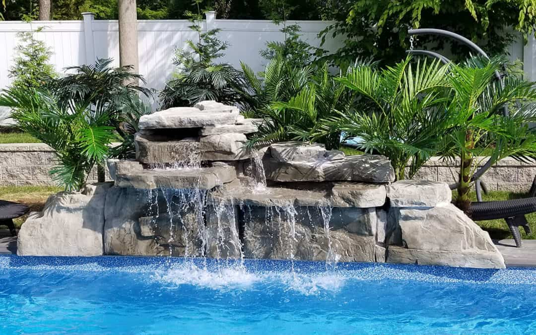 Gray 4′ Double Swimming Pool Waterfall Kit