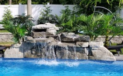 Gray 4′ Double Swimming Pool Waterfall Kit