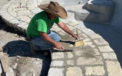 how to finish grout ricorock coping