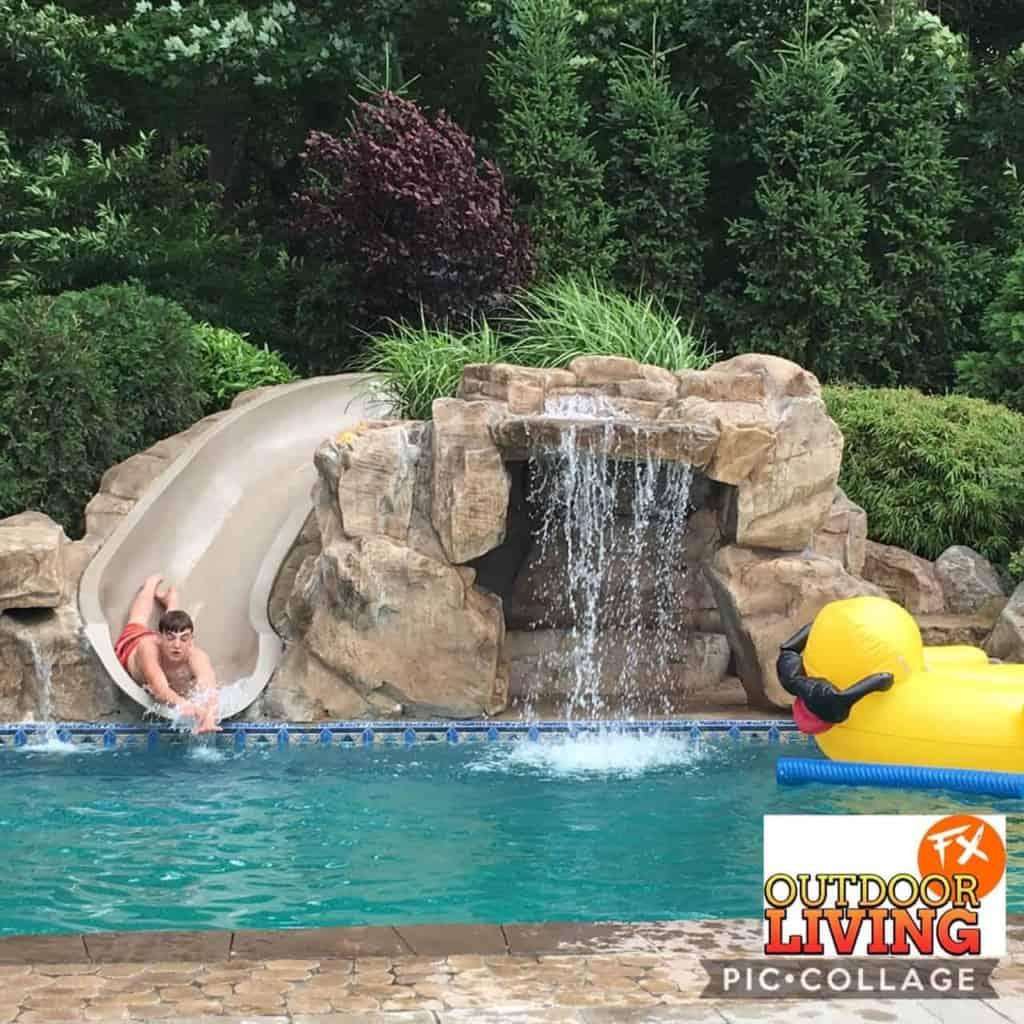 pool cave slide