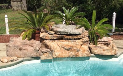 Tennessee Ledger Faux Rock Swimming Pool Waterfall Kit