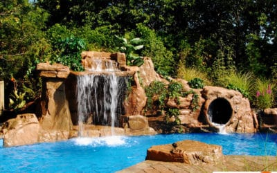Swimming pool waterfalls by ricorock inc a new way to - How to build a swimming pool waterfall ...