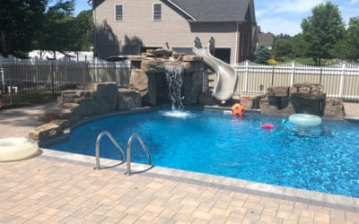 RicoRock Component Grotto & 3 Ft Modular Swimming Pool Waterfall