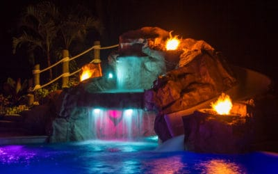 Lights, Fire, Water – Custom Faux Rock Cave