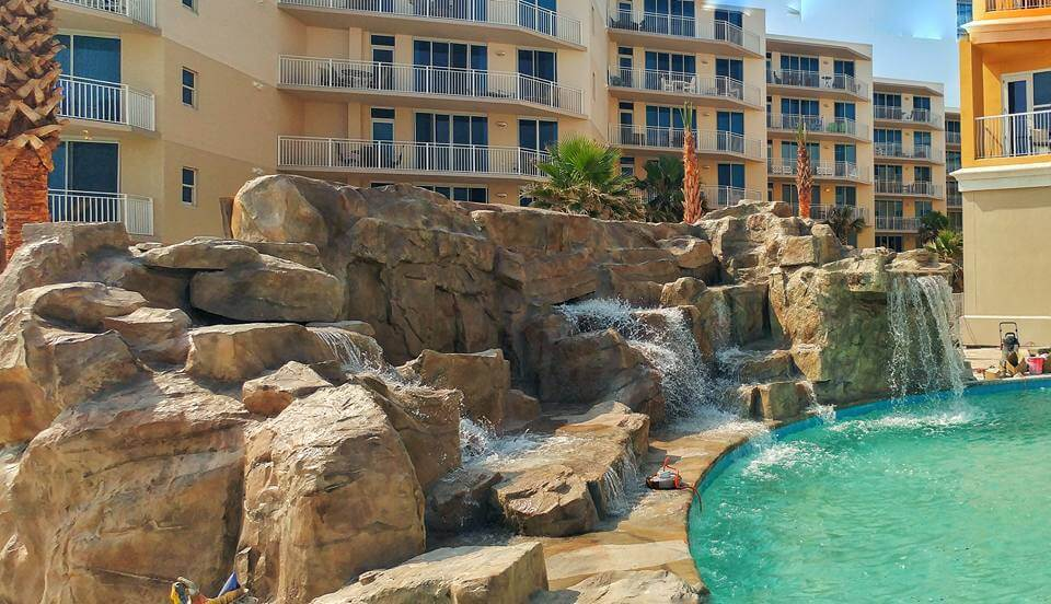 Custom RicoRock Waterfall at a Hilton Resort in Florida