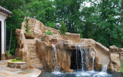 RicoRock Artificial Rock Grotto with Slide and Stairs