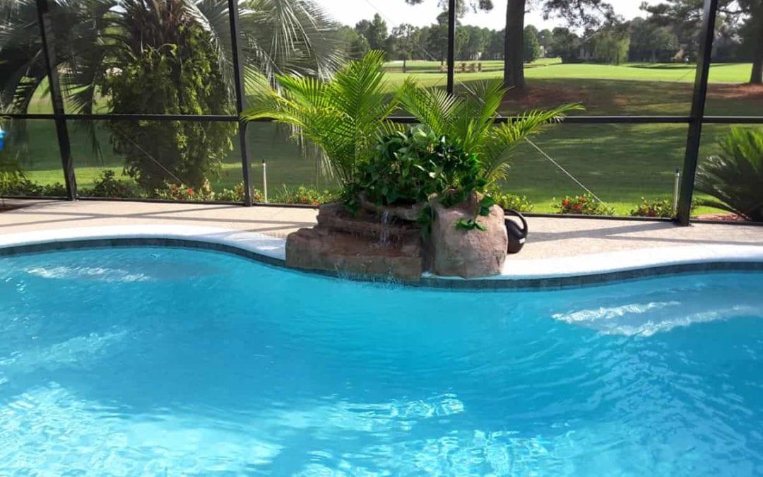 RicoRock Florida 3-Step Artificial Rock Swimming Pool Waterfall Kit
