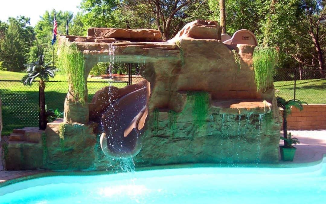 Custom Waterfall & Slide Enclosure Using RicoRock Faux Rock Panels