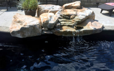 RicoRock Artificial Rock Swimming Pool Waterfall