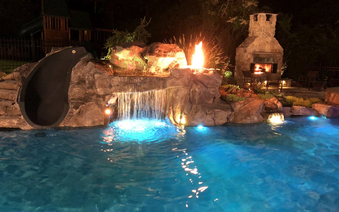 Pool Renovation Using RicoRock Faux Rock Castings