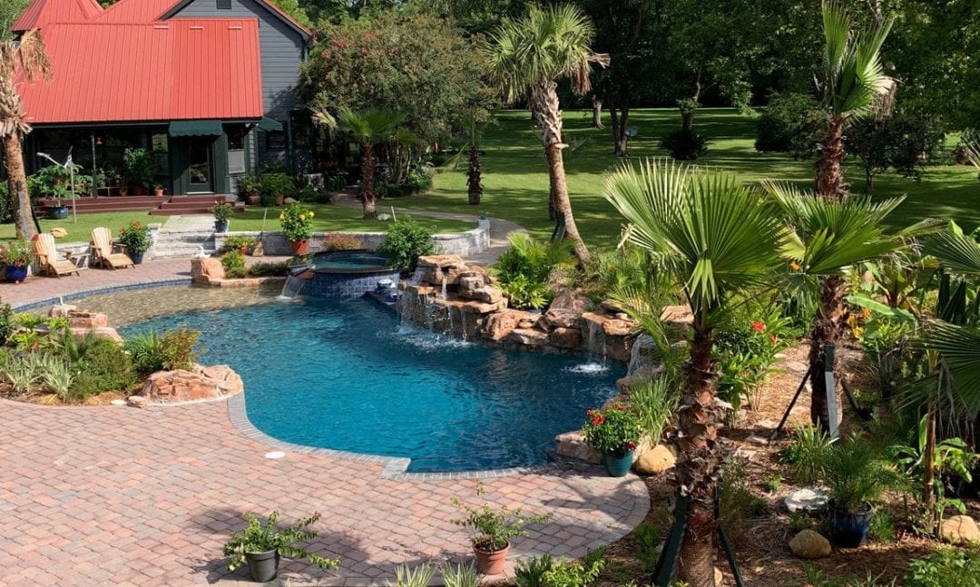 Creative Installation of RicoRock Faux Rock Waterfall Kits on a Georgia Pool