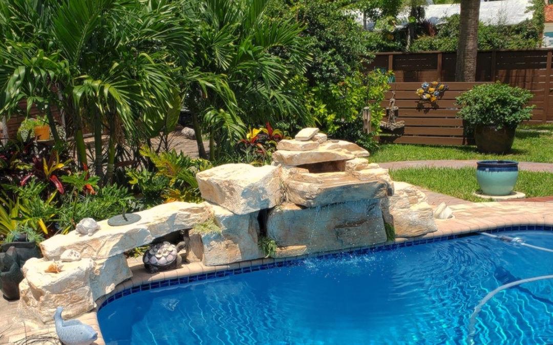 3 Foor Modular Swimming Pool Waterfall Kit w/ Additional Faux Rock Boulders