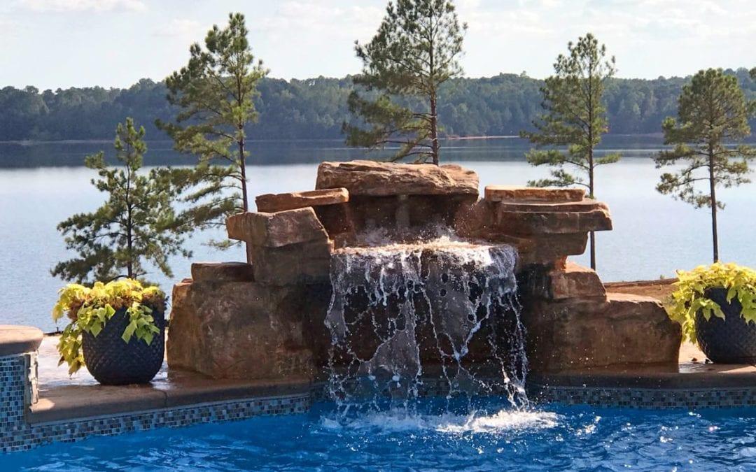 RicoRock Faux Rock Loveseat Grotto Swimming Pool Waterfall Kit