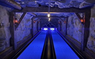 Underground Bowling Alley with RicoRock Faux Rock Panels