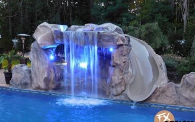 RicoRock Custom Artificial Rock Cave with Boulders & Lighting
