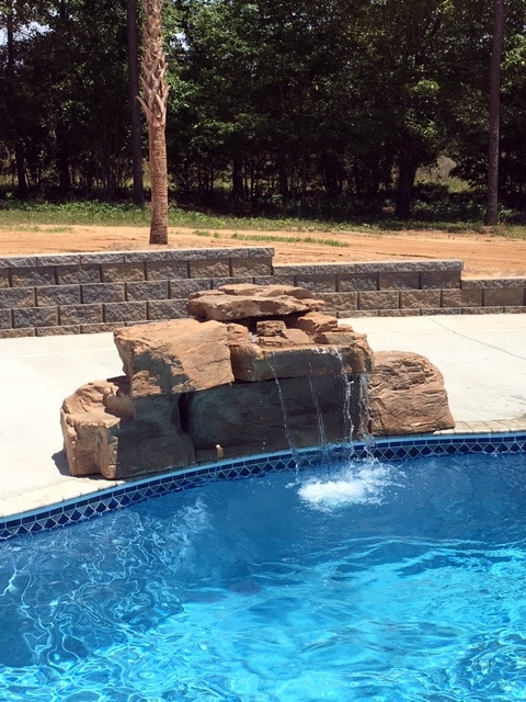RicoRock 3 Foot Modular Swimming Pool Waterfall Kit in SC