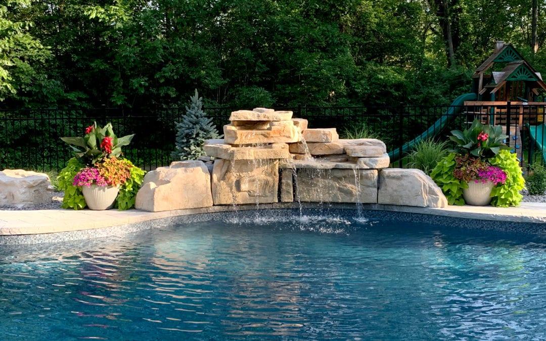 The Perfect Home Waterfall – RicoRock 4 Foot Double Pool Waterfall Kit