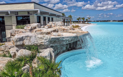 RicoRock Custom Faux Rock Grotto at Lago Mar Crystal Lagoon
