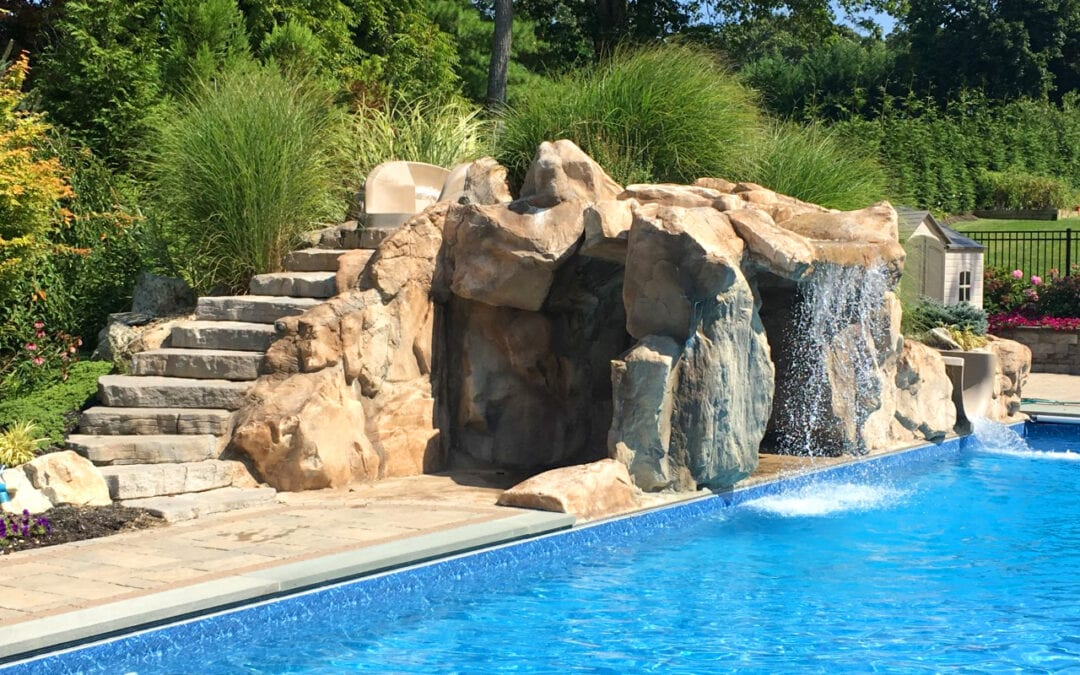 Custom Residential Artificial Rock Cave Pool