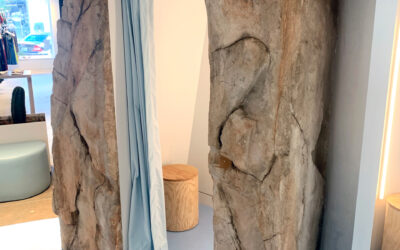 Retail Fitting Room Created w/ RicoRock Faux Rock Castings