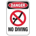 danger no diving pool signs l10058 lg