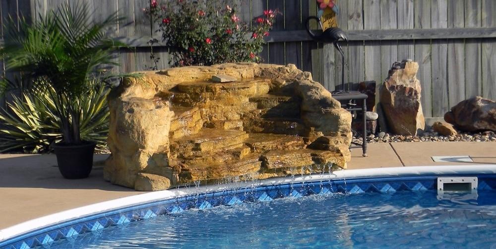 One Piece Swimming Pool Waterfalls